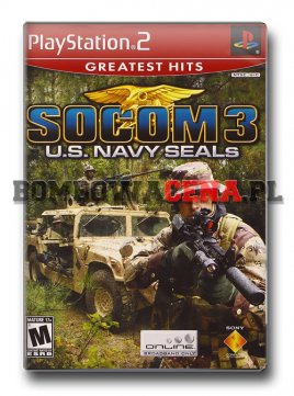 SOCOM 3: U.S. Navy SEALs [PS2] NTSC USA, Greatest Hits